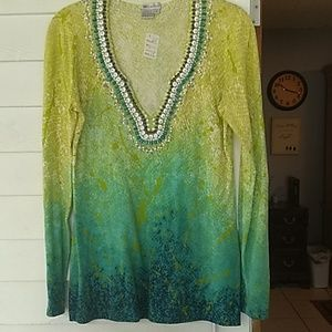 Worth tunic style beaded top